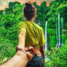 FOLLOW ME TO… - Series of pictures taken by Russian photographer Murad Osmann of him and his girlfriend Natalia.