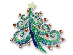 Decorated Tree Pin