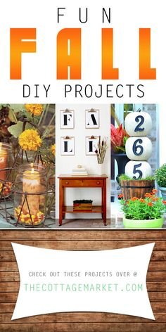 Looking for some more Fun Fall DIY Projects to decorate your home with? Well you are in the right place today! Here is our new collection of Fall Fun!!!!!