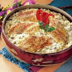 One Dish Chicken and Rice Bake - My Mom has been making a recipe very similar to this for as long as I can remember.