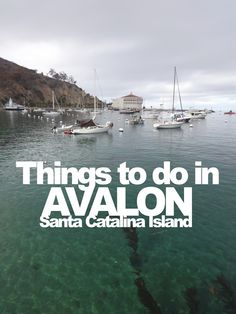 Things to do in Avalon on Santa Catalina Island, California ... even during off-season