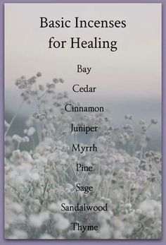 Basic Incenses for Healing (Printable) | Witches Of The Craft®