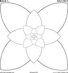 Mandala fleur #mandala #mandalas #coloriage
