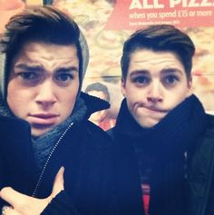 Finn and Jack Harries. Twinning. Love.  Oh god. Excuse me. I'm gonna go pass out. <3 fffffffffmmmmmm.