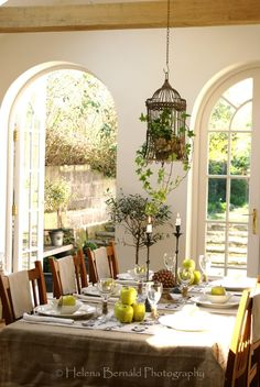 The Swenglish Home - Summer Dining Room ready for guests.