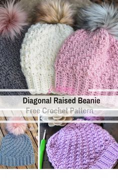 Crochet Beanie Design This Chunky Beanie Crochet Pattern Is The Perfect Last Minute Gift - This chunky beanie crochet pattern is a very clever pattern with a fabulous design and looks great with or without a pom pom Chunky Crochet Hat, Crochet Beanie Pattern, Crochet Yarn, Crochet Stitches, Free Crochet, Crochet Patterns, Crochet Crafts, Crochet Ideas, Hat Patterns