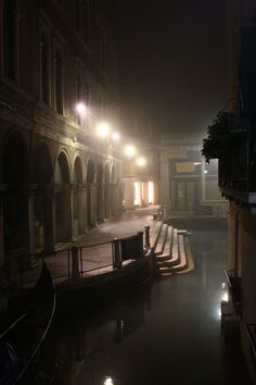Venice at night. Wonderful lighting that captures the mysterious, slightly haunted atmosphere of the city in the evening.