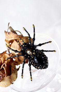 Black gothic spider ring large spider ring by DarkPearlBoutique