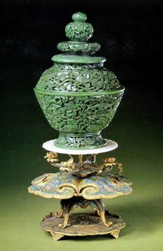 JP: Jade 19th century Chinese, Qing Dynasty Incense Burner