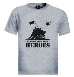 PROUD TO SUPPORT SUPPORTING THE ARMY HEROES T-Shirt Brand new 100% cotton standard weight t-shirt as shown in the picture. Express yourself through our t-shirts and make a statement. Add this item to your shopping cart by choosing the size and color you like.