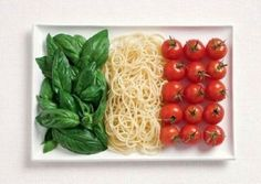 bandiera italiana da mangiare