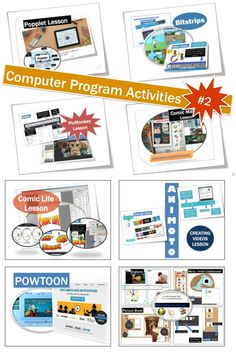 1.Animoto 2.Bitstrips 3.Comic Life 4.Comic Master 5.PicMonkey 6.Popplet  7.Powtoon 8.Storybird.  This bundle includes screen shots, step-by-step instructions and tips for using these 8 websites.