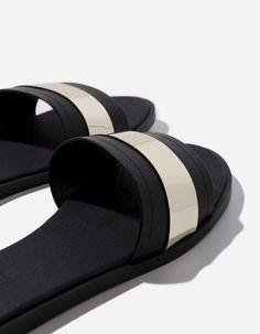 Sandalia pala metalizada | Blanco