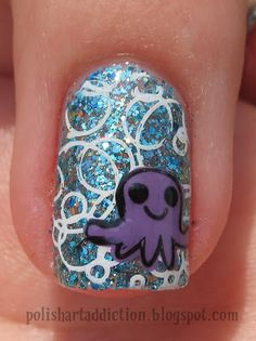 Octopus nail. Pug that on the ring finger of your left hand.