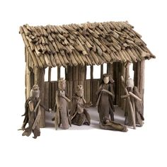 Beautiful Driftwood Nativity Set comes complete with the Holy family figures as well as the wise-men and ready to display in any area of your home. Perfect for holiday and Christmas decorating to bring style and warmth to any room. The Driftwood Nativity Set is handcrafted with this beautiful handmade, primitive style holiday decor. Available at www.coastalstylegifts.com
