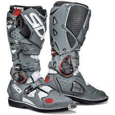 Sidi Crossfire2 Motocross Boots - White Grey