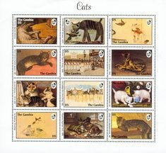 Gambia Cats on stamps index