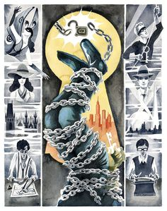 The Amazing Adventures of Kavalier Clay – Levi Hastings For the creation of this beautiful watercolor painting, Seattle artist Levi Hasti. Michael Chabon, Library Card, Amazing Adventures, Giclee Print, Watercolor Paintings, Novels, Clay, Fine Art, Gallery