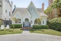 Tudor Style Homes, Cottage Style Homes, Types Of Granite, Shiplap Ceiling, Arch Doorway, Faux Window, Garden Tub, Park Homes, Home Look