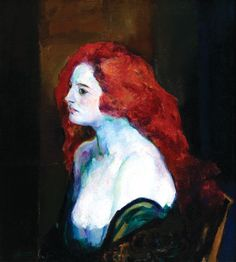 Arthur B. Carles (American, 1882-1952), Woman  with Red Hair, 1922, oil on canvas, 29 ¾ x 27 in.  Gift of Linda and James Ries in memory of  Rose Ries, 2011.