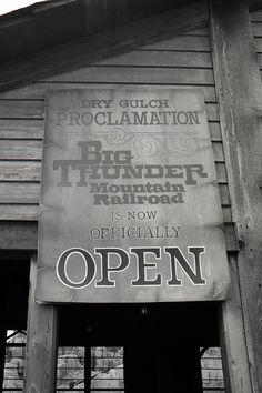 Big Thunder Mountain Railroad at Magic Kingdom Park in 1980