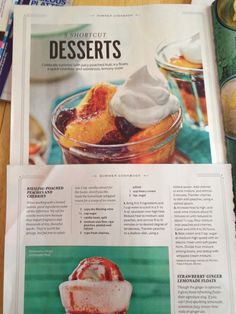 Riesling Poached Peaches & Cherries