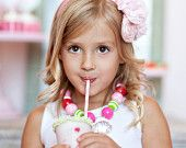 Strawberry Bliss Girls Necklace - Fuchsia, Green, Pink, Red