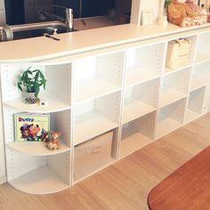 so73osさんの、棚,カラーボックス,収納,ニトリ,キッチンカウンター,からーボックス,のお部屋写真