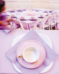 Pink and purple colors for a Sofia the First party #parties #sofiathefirst