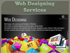 Web design is the planning and formation of websites.  The creation of website depends on various factors which include information architecture, user interface, site structure, navigation layout, colours, fonts and imagery.