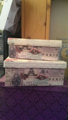 Decoratively covered boxes