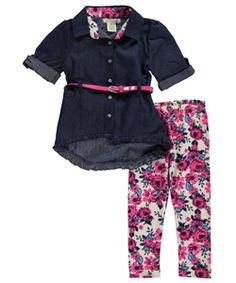 "One Step Up Little Girls' ""Darla"" 3-Piece Outfit (Sizes 4 – 6X) - CookiesKids.com"