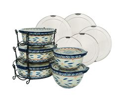 """Product image of """"As Is"""" Temp-tations Old World 13-pc Round Baker Set"""
