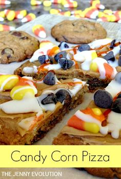 Candy Corn Pizza Recipe. Time to celebrate Fall & Halloween! | The Jenny Evolution