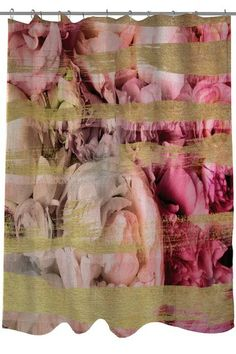 Oliver Gal By One Bella Casa Field Of Roses Shower Curtain Lightning E Commerce