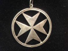 Vintage Silver Maltese Cross Pendant   eBay
