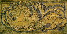 Démon a nagyszentmiklósi kincsrõl.  faragott, festett relief  76x 76cm  2006