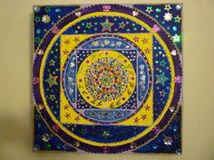 starry gems on canvas 40cmsx40cms original  £55