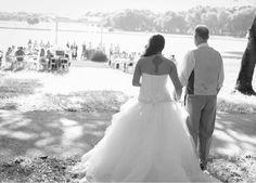 The bride getting ready to make the walk of her life. #wedding #WalkDownTheAisle #blackandwhite #tattoo #Pergola #ceremony #Florida #GrandOaksResort