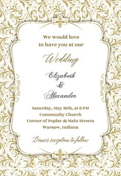 free pdf template floral calligraphy invitation template easy to