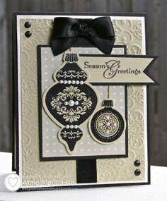 stampin up ornament keepsakes, Snow Burst, Handmade Christmas Card Homemade Christmas Cards, Noel Christmas, Homemade Cards, Handmade Christmas, Christmas Ornament, Christmas Colors, Holiday Ornaments, Christmas Bulbs, Xmas Cards