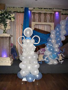 Reception Decor for BABY BOY'S BAPTISM on http://www.petitdelights.com/2011/01/reception-decor-for-baby-boy's-baptism/