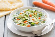 0-SmartPoints SlowCooker Veggie Noodle Soup | Weight Watchers Recipes