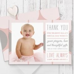 photo baby thank you card printable heart baby by cardsetcetera