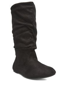 Slouchy Faux Suede Boots - Wide Width I Wet Seal+ #WetSealPlus #shoes #boots