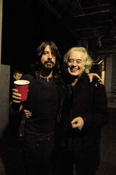 David Grohl and Jimmy Page