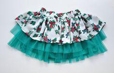 Twirly girls skirt flowery tutu novelty folk by NinuMiluBagDolls