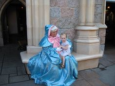 If I'm ever a grandma to a little girl, I wanna dress up like the fairy godmother and dress the baby up as cinderella :)