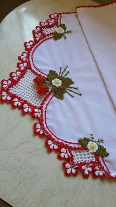 Bico de crochê Crochet Edging Patterns, Crochet Borders, Crochet Motif, Crochet Doilies, Crochet Flowers, Crochet Stitches, Crochet Trim, Crochet Lace, Pinterest Crochet