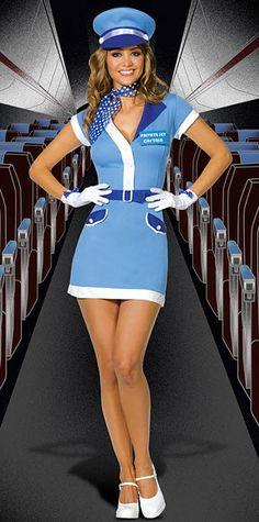 Milfs in stewardess costume